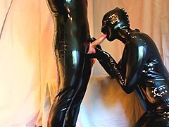 Latex Belle - Full latex sucking  fucking and cumshot