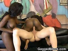 black amateur ghetto sluts getting roughed up together