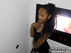 small tits nice ass hottie blowing strangers in glory hole