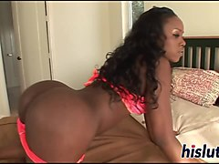 saucy ebony filly has her ass drilled