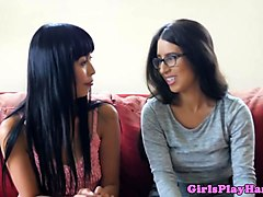 Asian dyke tribbing with spex lesbian