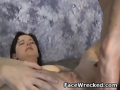 brunette dirty maci may rough blowjob and anal fucking