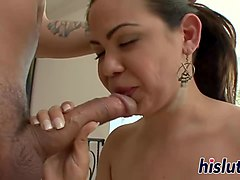 raunchy asian looker receives a creampie