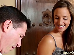massaged babe jizzed over massage