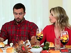 naughty family thanksgiving with cheating wife
