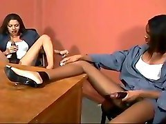 Ebony Girls Fuck A Guy With Strap On