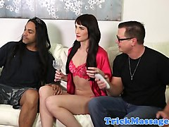 Tricked babe interracially creampied by bbc
