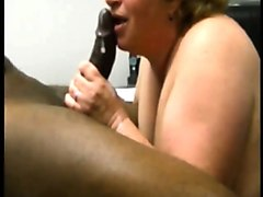 adult white bbw attempts pushing her black cock