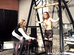 Lesbian play piercing punishment and extreme amateur bdsm of Dirty Mary in needle torture and hardcore masochist en###