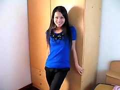 Dellicious asian ladyboy playing herself