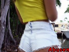 Bratty babe gets throat and pussy ###d