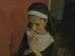 Pretty Indian Nun Swallows A Cumload