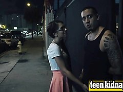innocent brunette teen hardcore public night sex