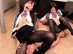footjob special double leg stockings