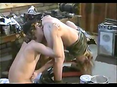 Tom byron fucks blonde in the garage